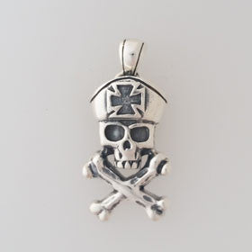 Sterling Silver Pirate Captain Pendant