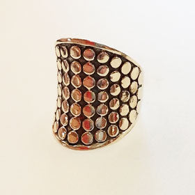 Sterling Silver Cobble Stone Ring