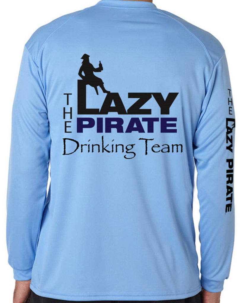 Men's Lazy Pirate Performance Shirt - Blue