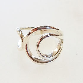Sterling Silver Double Loop Wrap Ring