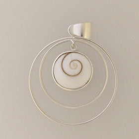Eye of Shiva Circles Sterling Silver Pendant