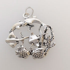 Sterling Silver Sea Life Pendant