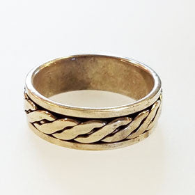 Sterling Silver Flat Rope Ring
