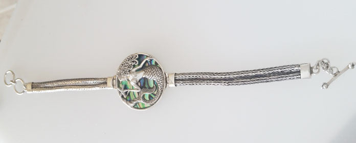 Abalone Mermaid & Starfish Bracelet Set in Sterling Silver