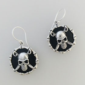 Lava Pirate Earrings Set in Sterling Silver