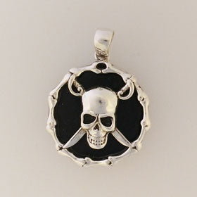 Lava Pirate Pendant Set in Sterling Silver