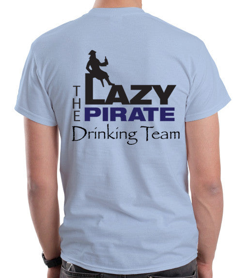 Men's Lazy Pirate T-Shirts - Blue