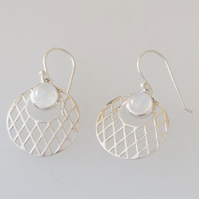Moonstone Web Sterling Silver Earrings