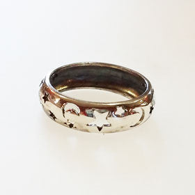 Sterling Silver Moon & Stars Band Ring