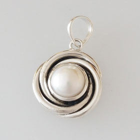 Pearl Spirial Sterling Silver Pendant