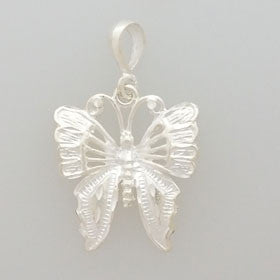 Sterling Silver Large Butterfly Pendant