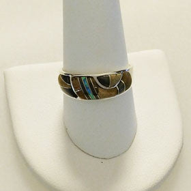 Tiger Eye & Black Onyx Ring Set in Sterling Silver