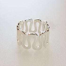 Sterling Silver Snake Loop Ring