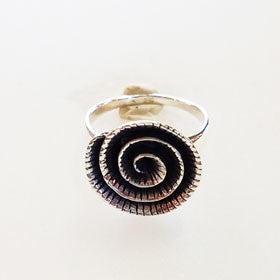 Sterling Silver Spiral Flower Ring