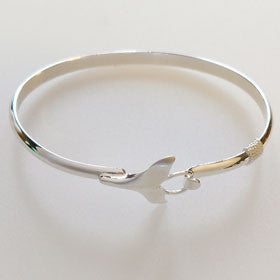 Sterling Silver Whale Tail Bracelet