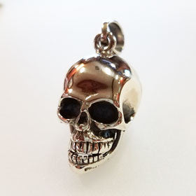 Sterling Silver Talking Skull Pendant