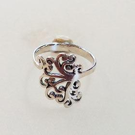 Sterling Silver Filigree Tree Ring