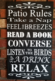 Patio Sign, Patio Rules, Take a Nap, Read a Book, Sip a Drink, Listen to Birds, Relax, Handmade, Handpainted, Friends, Good times sign