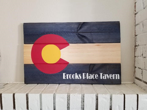 Colorado Name Flag Sign, Colorado Bar Flag Sign,Personalized Colorado Flag Sign, Rustic Colorado State Flag Wooden Sign, Flag Wall Hanging