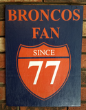 Denver Broncos Sign, Customizable Team Sign, Handmade Sports Sign, Handpainted Sports sign, Baseball, Hockey, Football, Basketball