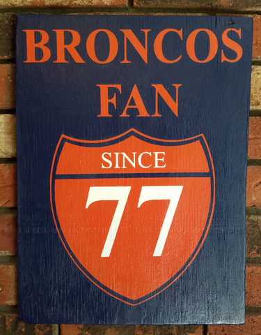 Denver Broncos Sign, Customizable Team Sign, Handmade Sports Sign