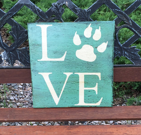 Animal Sign, Dog Sign, Pet Sign, Love Animals, Love Pets, Rustic Pet sign, Paw Print Sign,