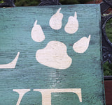 Animal Sign, Dog Sign, Pet Sign, Love Animals, Love Pets, Rustic Pet sign, Paw Print sign, Rustic Animal sign, Humane, Cat Signs, Zoo signs