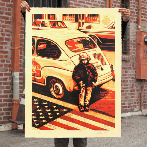 GUN CULTURE Large Format Screen Print