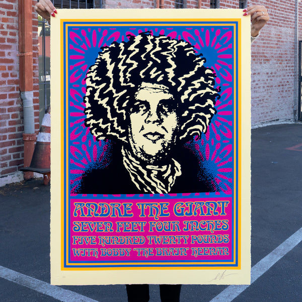 ANDRE PSYCHEDELIC Large Format Serigraph