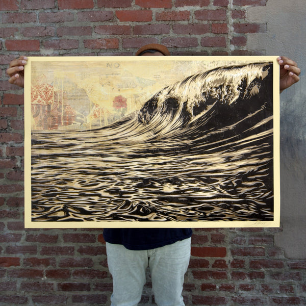 DARK WAVE Signed Offset Lithograph