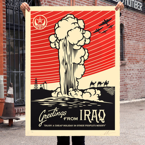 GREETINGS FROM IRAQ Large Format Serigraph