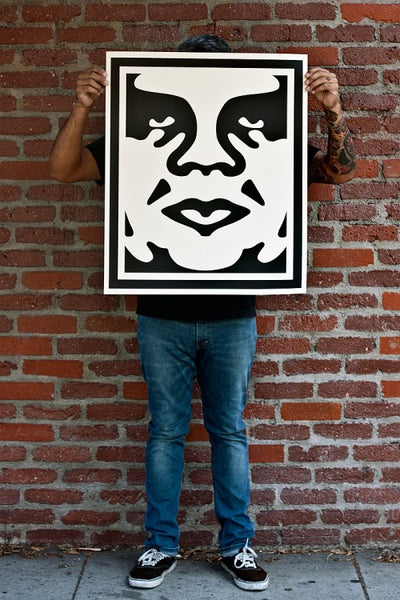 OBEY 3-FACE (Cream) Signed Poster Set