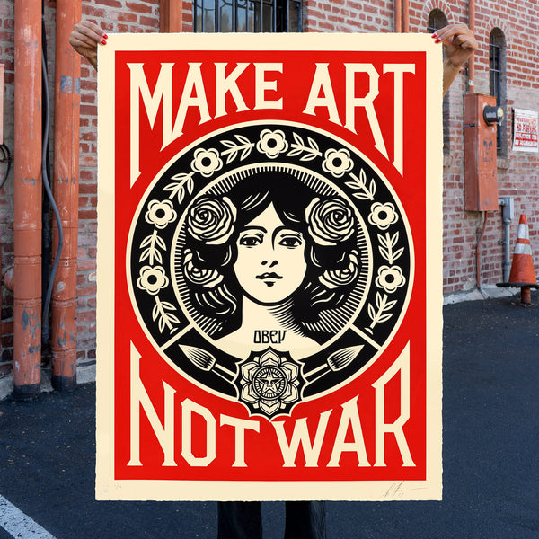 30th Anniversary MAKE ART NOT WAR Large Format Serigraph