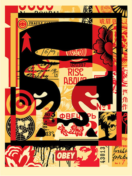 OBEY 3 FACE COLLAGE 18x24 Signed Offset Lithograph Set