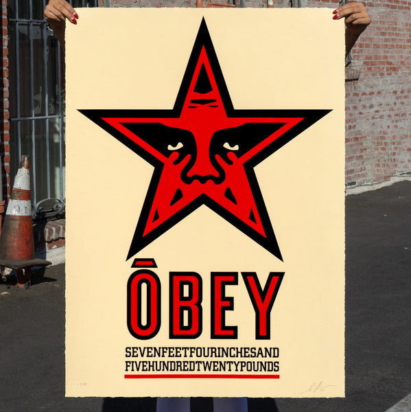 OBEY STAR Large Format Serigraph
