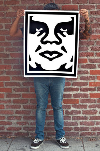 OBEY 3-FACE (White) Signed Poster Set