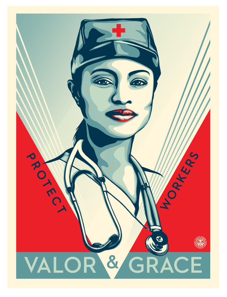 VALOR & GRACE NURSE Signed & Numbered Screen Print