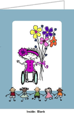 Framed Disability Humor poster by Comic Jennifer Latham Robinson
