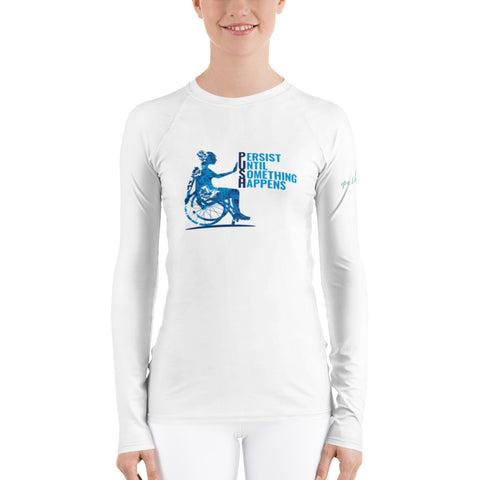 Ladies' Long Sleeve Tee / Broken Wings Still Fly / Wheelchair Lifestyle