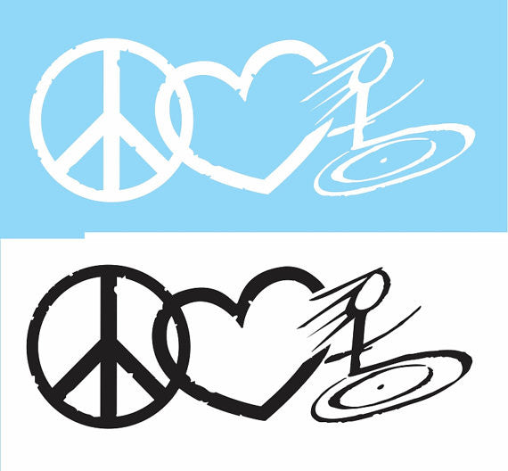 Peace Love Wheelchair Decal / Sticker