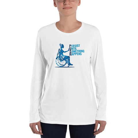 Ladie's Short Sleeve t-Shirt / Living My Best PUSH LIFE / Wheelchair Lifestyle