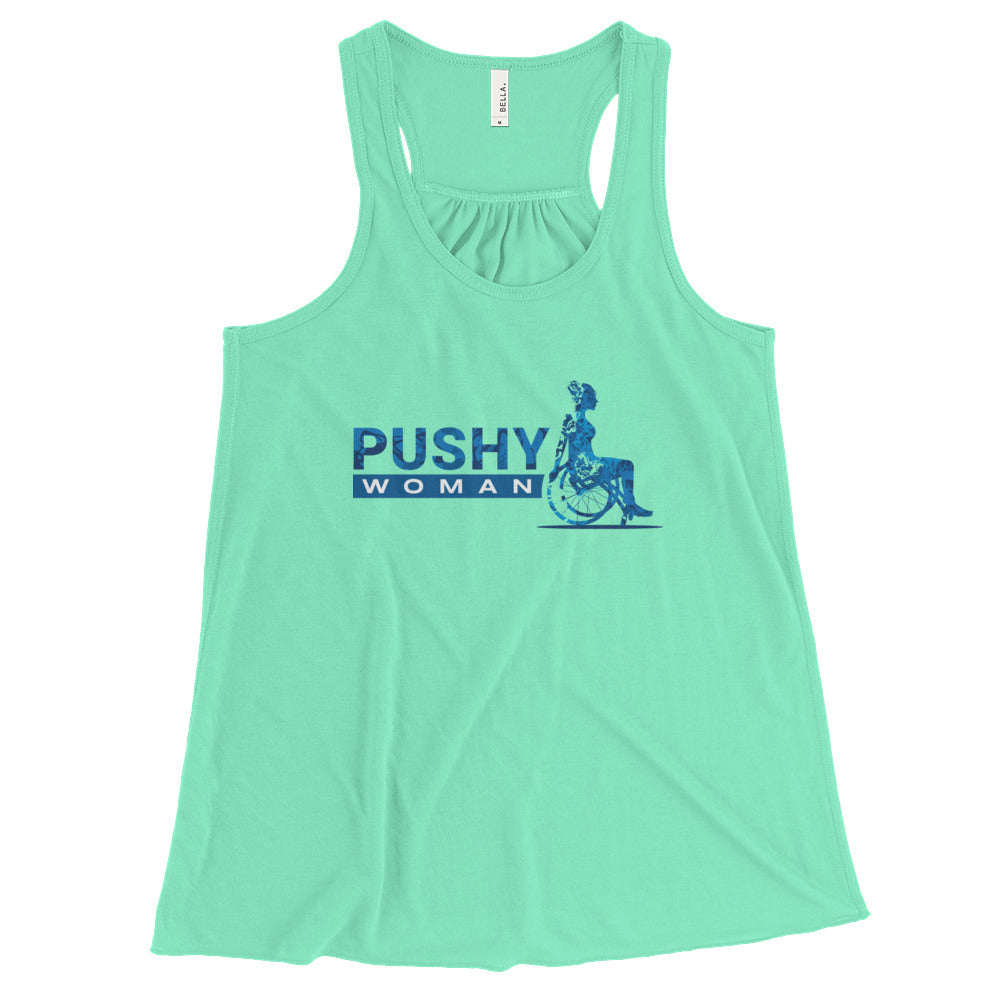 PUSHY Woman Flowy Racerback Tank / Push Living Summer Tank