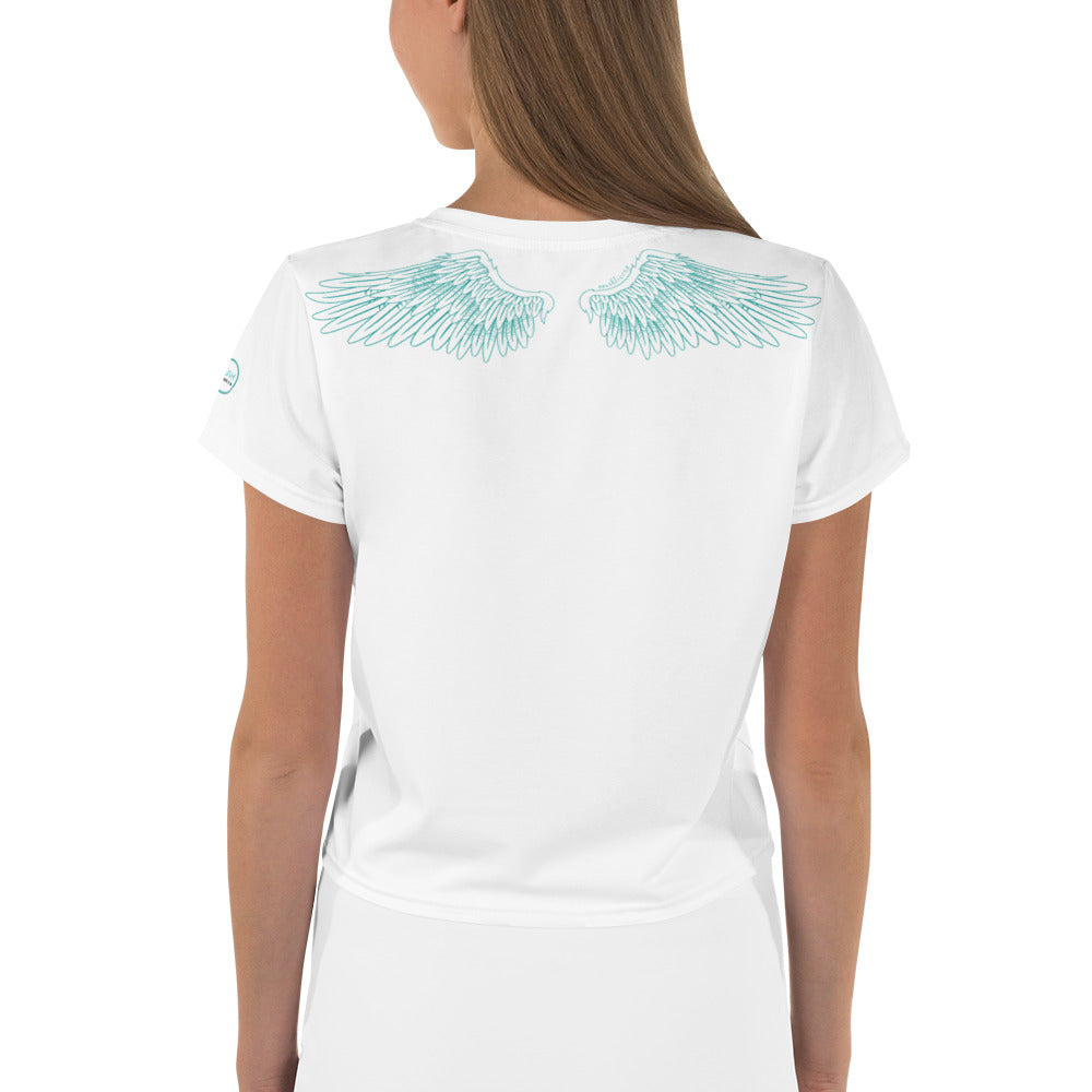 WOMENS SHORT SLEEVE CROP TEE | BROKEN WINGS, STILL FLY
