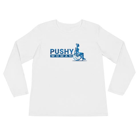 PUSH WOMAN DISABILITY POSITIVE Women's Crew Neck T-shirt