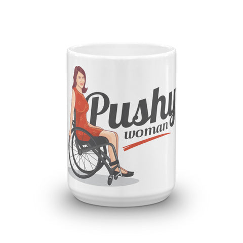 PUSH WOMAN Disability Positive Framed Message poster