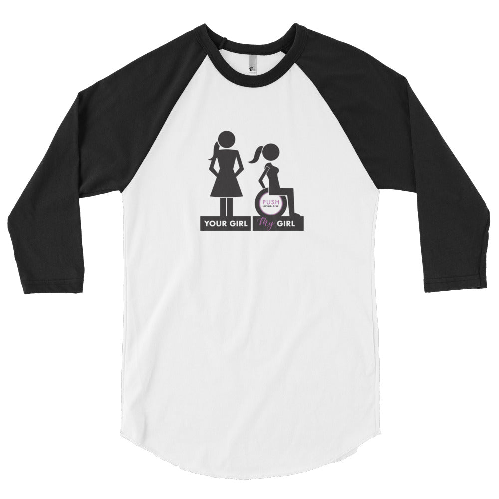MENS 3/4 SLEEVE RAGLAN SHIRT | YOUR GIRL, MY GIRL