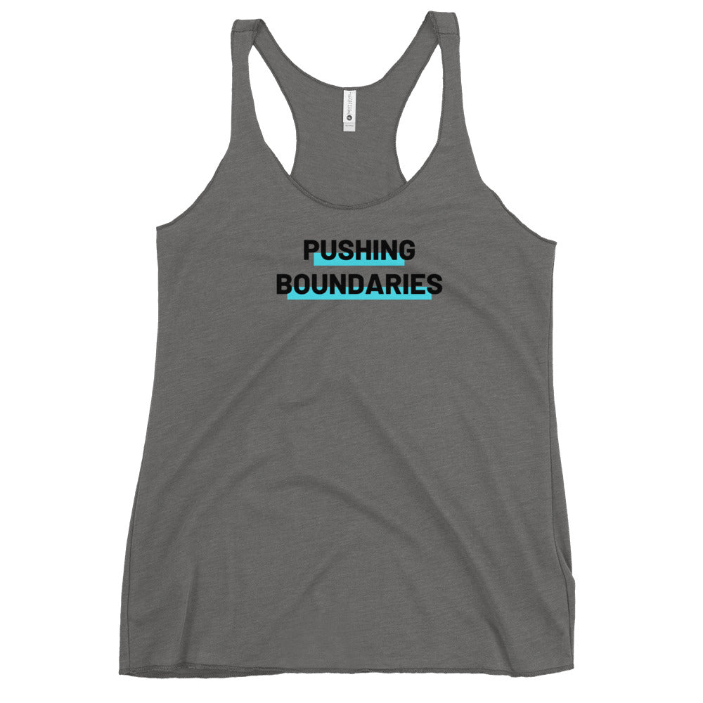 Women's Racerback Tank / PUSHING BOUNDARIES / Wheelchair Lifestyle