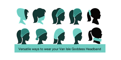 Versatile ways to wear your Van Isle Goddess Headband by Roxy Hurtubise