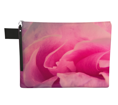 Rose Petal Kiss Zipper Carry All by Vanislegoddess.com available in 4 sizes.