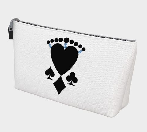 Queen of Cards Las Vegas Makeup Travel Bag You can use this versatile case for almost anything!  Makeup, change purse, phone holder, cords and chargers, art pencils, keys, vacation money, protect your passport or organize almost anything you wish.    Artwork by Roxy Hurtubise